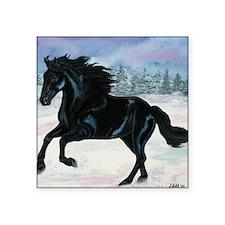 """Black horse Square Sticker 3"""" x 3"""""""