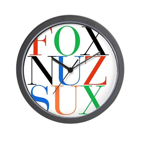 Fox_Nuz_Sux_1 Wall Clock