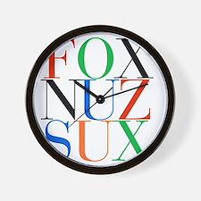 Fox_Nuz_Sux_1 Wall Clock