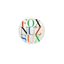 Fox_Nuz_Sux_1 Mini Button