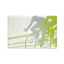 Bicycle Racers Rectangle Magnet