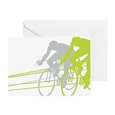 Bicycle Racers Greeting Card