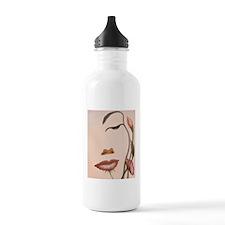 flower face83 Water Bottle