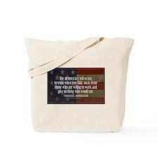 Jefferson Quote Democracy Tote Bag