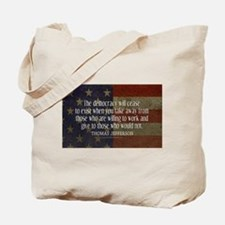 Jefferson Quote Democracy Tote Bag