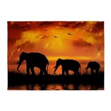 Elephant Safari 5'x7'area Rug