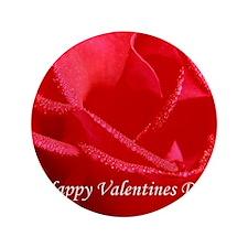 "Happy Valentines Day Side 3.5"" Button"