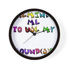 reminder4 Wall Clock