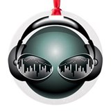 Dj music Round Ornament