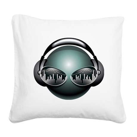 best dj Square Canvas Pillow