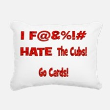 Love Chicago Cards Shirt Rectangular Canvas Pillow