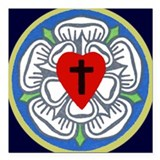 Lutheran rose Car Magnets