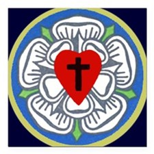 """Luther Seal Tile 2 Square Car Magnet 3"""" x 3"""""""
