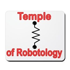 Temple Robotology Black Mousepad