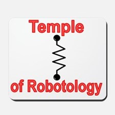Temple Robotology Black Mousepad