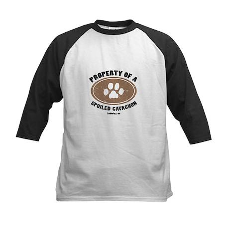 Cavachon dog Kids Baseball Jersey