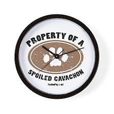 Cavachon dog Wall Clock