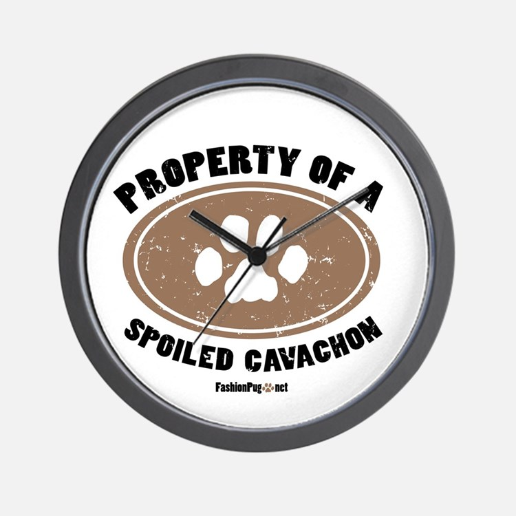 Cavachon dog Wall Clock
