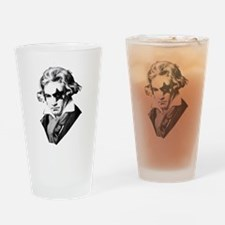 Rock star Beethoven Drinking Glass