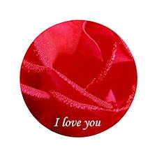 "VALENTINE I love you side 3.5"" Button"