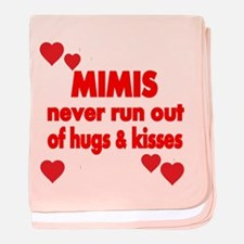 MIMIS NEVER RUN OUT OF HUGS KISSES Baby Blanket