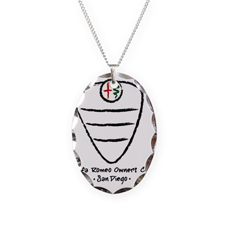 grill logo large Necklace Oval Charm