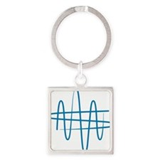 NWS_symbol_blue Square Keychain