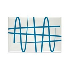 NWS_symbol_blue Rectangle Magnet