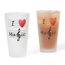 I_luv_music Drinking Glass