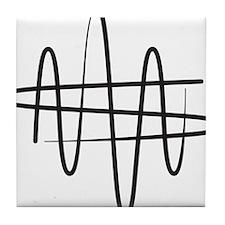 NWS_symbol_black Tile Coaster