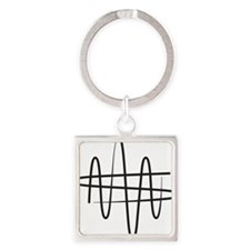 NWS_symbol_black Square Keychain