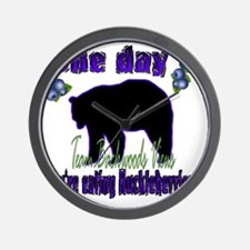One day eating huckleberries...gif Wall Clock