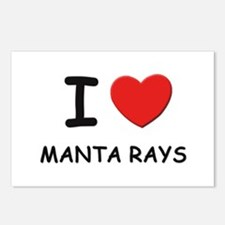 I love manta rays Postcards (Package of 8)