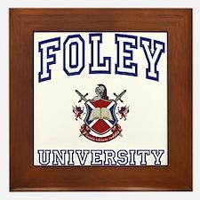 FOLEY University Framed Tile