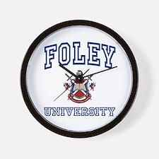 FOLEY University Wall Clock