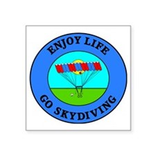 """skydiving4 Square Sticker 3"""" x 3"""""""