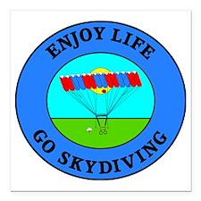 "skydiving4 Square Car Magnet 3"" x 3"""