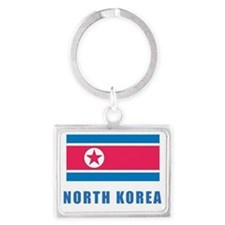 n_korea_flag Landscape Keychain