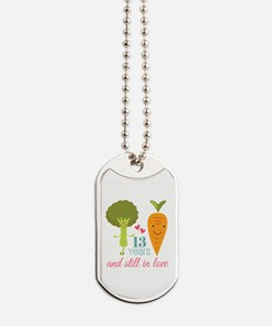 13 Year Anniversary Veggie Couple Dog Tags
