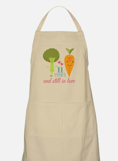 11 Year Anniversary Veggie Couple Apron