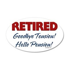 retiredgoodbyetensionSTICKER Wall Decal