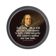 Ben Franklin Quote Wall Clock