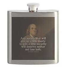 Ben Franklin Quote Flask