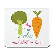 7 Year Anniversary Veggie Couple Mousepad