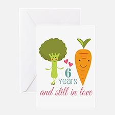 6 Year Anniversary Veggie Couple Greeting Card
