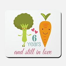 6 Year Anniversary Veggie Couple Mousepad