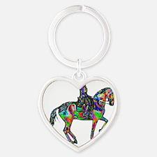 dressagecolorfoil2 Heart Keychain