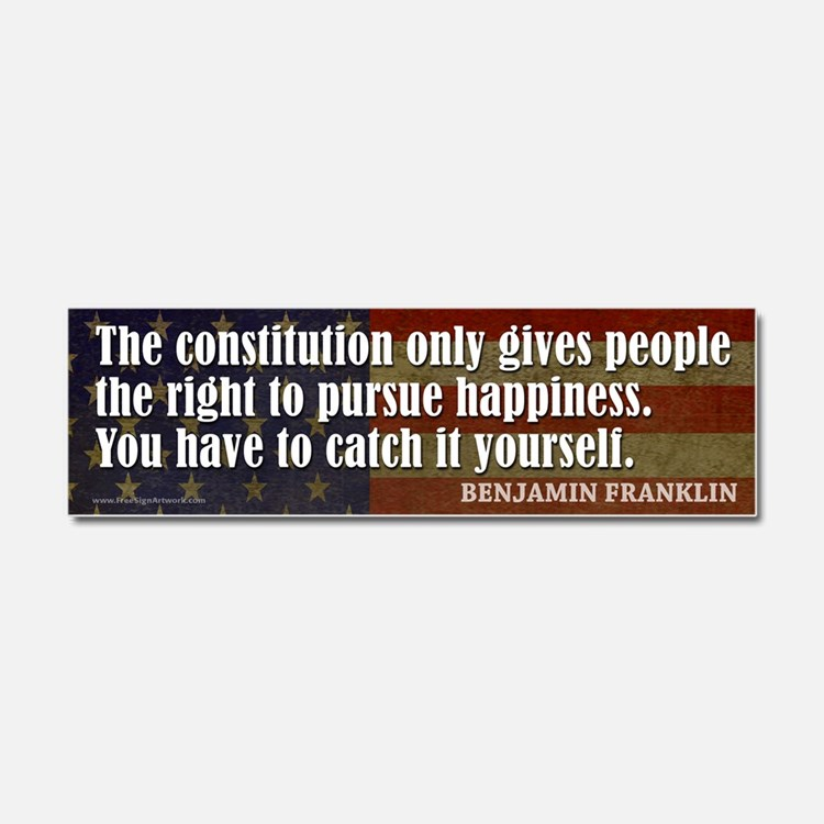 Ben Quote Happiness Car Magnet 10 x 3