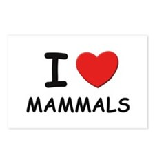 I love mammals Postcards (Package of 8)