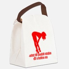Rather Be Snorting Cocaine Off Ho Canvas Lunch Bag